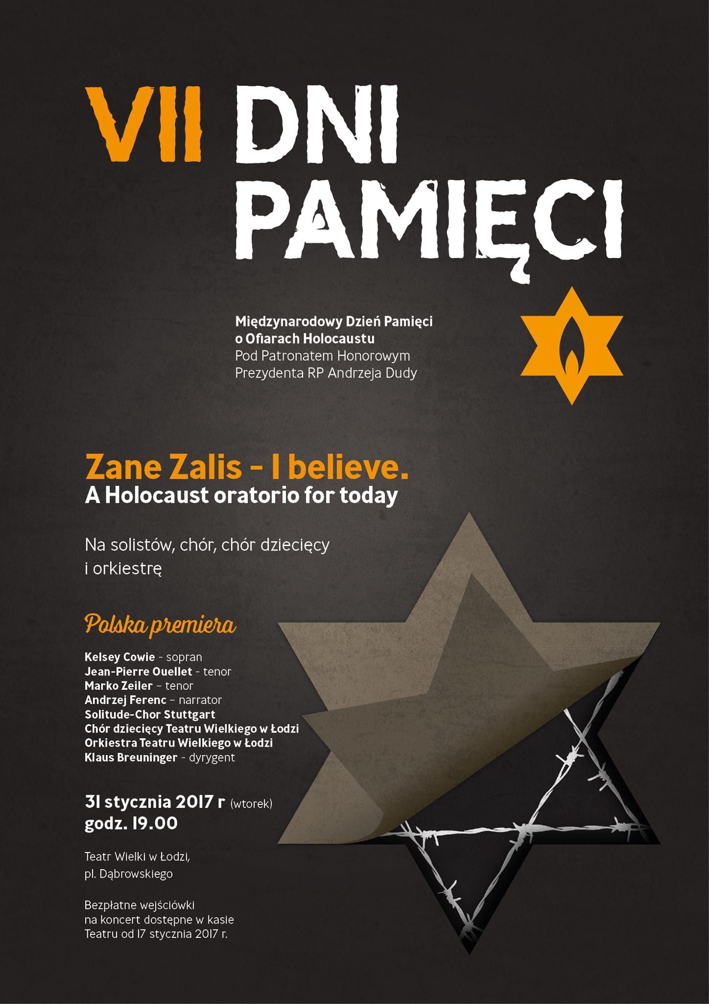 Plakat - Material der Staatsoper Lodz / materiały Teatru Wielkiego w Łodzi